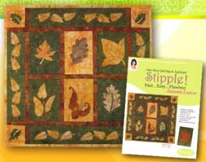 Designs in Machine Embroidery 1 Step Quilting & Applique Stipple! Autumn Leaves - 9 Designs on Multi-Formatted CD