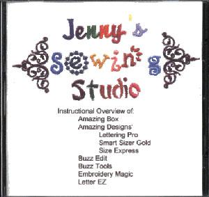Jennys Sewing Studio Instructional CD for Reader Writer Boxes & Software*