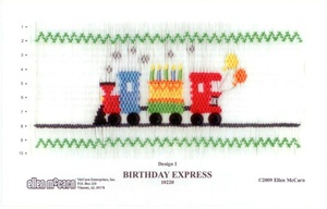 Ellen McCarn 10220 Birthday Express Smocking Plate Sewing Pattern, Thread Colors