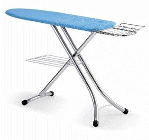 "LauraStar SWISS Prestige Ironing Board 48x16"" Made in Italy, with Extension Tray for Steam Generator Irons"