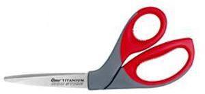 """Clauss CL18544 8"""" Titanium Bonded Non-Stick bent Scissors"""