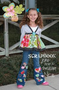 Pink Fig Scrapbook Jeans & Sweatshirt  Pattern