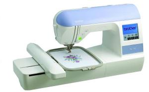 "Brother Demo PE770, PE770, fs, pe-770, Designio, DZ820E, 5x7"", hoop, Embroidery, USB, Card, Machine, Memory, Stick, Compatible, 650, SPM, 136, Designs, 6, Fonts, 120, Border, Frames, 3700, Format, Color, Convert, PE700 750 780, 10, FREE, Touch, Screen, Trimmer, Threader"