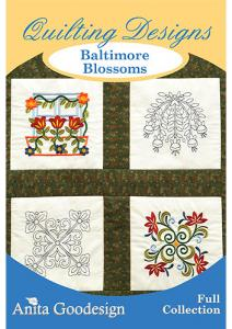 Anita Goodesign 134AGHD Baltimore Blossoms Full Collection Multi-format Embroidery Design Pack on CD  125 Designs