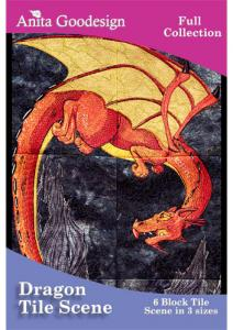 Anita Goodesign 133AGHD Dragon Tile Scene Full Collection Multi-format Embroidery Design Pack on CD
