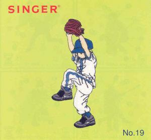 Singer No. 19 Sports II Designs Embroidery Card #386800 for XL100, XL150, XL1000 Quantum Sewing Machines
