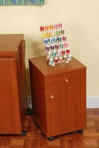 """Arrow 98802 Suzi Storage Sidekick Cherry Cabinet, 16x14x25"""", 4 Drawers"""