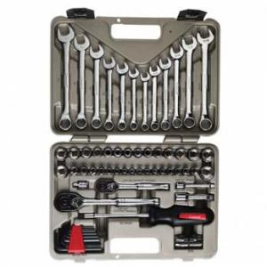 Crescent CG-CTK70MP 70 Piece Socket and Tool Set with Hard Case and Wrap - Quick Release Ratchet, Sockets, Ext. Drives, Wrenches, Hex Keys and More!!