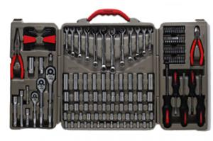 Crescent CG-CTK148MP 148 Piece Professional Tool Set - Pliers, Wrenches, Quick Release Ratchet, Sockets, Screwdrivers and More