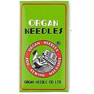 Organ 134x1, needles for Singer, 121W,122W1-W3, 127W, (except WSV), Sewing Machines, box of 100 size 20/125 Only