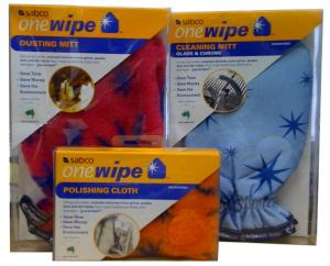 Sabco, OneWipe, 3 Pack, Microfibre, Cleaning, and, Polishing, Kit, 1 Cleaning Mitt, 1 Polishing Cloth, 1 Dusting Mitt