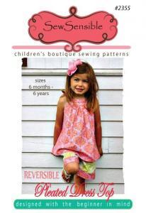 Sew Sensible SS235 Reversible Pleated Dress Top Pattern