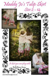 BellaRena Designs BRDP1 Maddy Jo's Tulip Skirt Size 2-14 Pattern