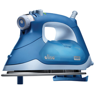 24903: Oliso TG1050 Continuous Steam Burst iTouch Smart Iron Has Legs, Blue