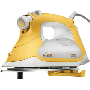 Oliso TG-1600 Steam Burst iTouch Smart Pro Zone* Smart Iron Yellow in Gift Box, 30 Minute Auto Off for Sewers and Quilters, Auto Lift Legs, 1800W SSSP