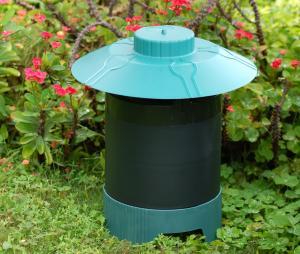 "Lentek MK06 CO2 Pest Control Mosquito Trap, 12.25""H x10.75""W x10.75""D,  1 Octenol Cartridge, UV Ultraviolet Light, CO2, 2.34 Pounds"