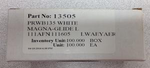 Brother, PRWB135, FilTec 13505, 12434, White, Prewound, Magnetic Core, Embroidery L Bobbins, Polyester Thread,100 in box, for PR600, PR620, PR650, Babylock, EMP, BMP