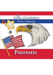 Anita Goodesign ABPT03 Patriotic (Petite Collection) Multi-format Embroidery Design Pack on CD