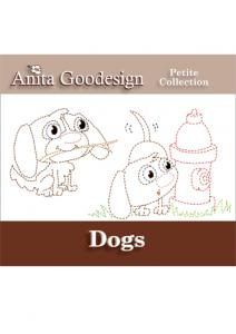 Anita Goodesign ABPT05 Dogs (Petite Collection) Multi-format Embroidery Design Pack on CD