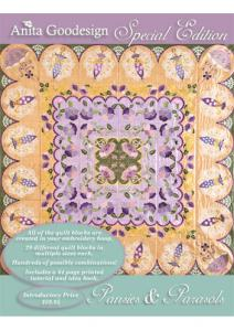 Anita Goodesign 02AGSE Pansies and Parasols Special Edition Multi-format Embroidery Design Pack on CD