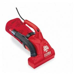 Dirt Devil M08230RED Bagged Ultra Hand Vac - 4 amps, Red, On Board Tools, 16' Cord, Microfresh Filtration