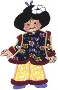 Sew Many Designs Asian Sweeties Collection Applique Collection Multi-Formatted CD