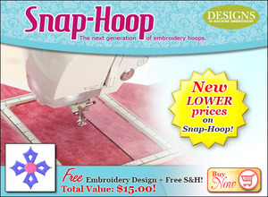 Snap-Hoop, Embroidery Hoop 5x7 inches, for Brother, Embroidery Machines, Innov-is, Quattro, NV6000D, 4500, 4000, 2800, 2500, 1500, Babylock, Ellisimo, Ellageo 2, Esante, magnetic, snaphoop