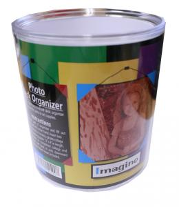 Acrylic Custom Photo or Kiwi Paper Desk Organizer