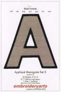 Embroideryarts Applique Monogram Set 3 XL Embroidery Multi-Formatted CD