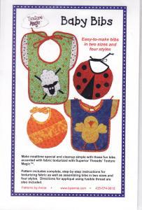 Patterns By Annie Unrein 93-4142 Baby Bibs Sewing Pattern PBA116