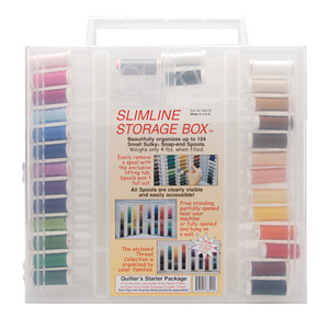 Sulky Quilter's SUL885-02 Starter Package has 30 Spools x 180 Yards of 30wt. Rayon Quilting Thread
