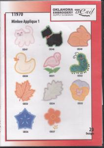 OESD 11970 Minkee Applique 1 Embroidery CD Design Pack