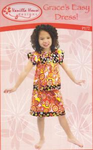 Vanilla House P172 Graces Easy Dress Pattern Sizes 2 to 8