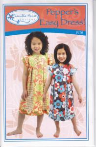 Vanilla House P170 Peppers Easy Dress Pattern Sizes 2 to 8