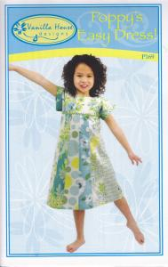 Vanilla House P169 Poppys Easy Dress Pattern Sizes 2 to 8