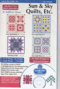 Sudberry House D9200 Sun & Sky Quilts ETC Multi-Formatted CD