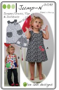 Olive Ann Designs  OAD57 Jump N' Dress/Romper Pattern sizes 1 through 6