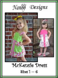 Nanoo Designs McKensie Dress Pattern Sizes 1-6