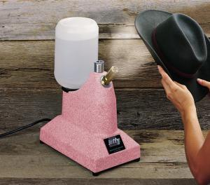 "Jiffy Pink J-1 Hat Steamer, 2.5"" Short Brass Steam Nozzle, 2 Min Heat Up Time"