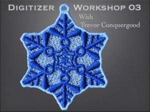 Janome SSSDW03 Digitizer Workshop 03 Workshop Video DVD with Trevor Conquergood, 1 Hour