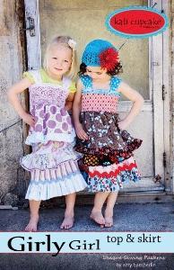 Kati Cupcake Girly Girl Top And Skirt Pattern