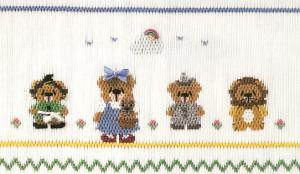 Little Memories Somebear over the Rainbow LM135 Smocking Plate