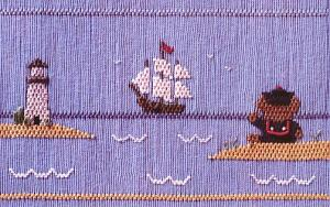 Little Memories Sea-ing Is Believing LM94 Smocking Plate