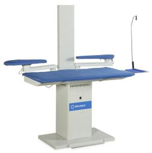 "Reliable 6600VB Heated & Vacuum Ironing Board Pressing Table 52X25"", Sleeve & Utility Bucks, Exhaust Chimney (Replaces 626HA) Made in Italy (626HA)"