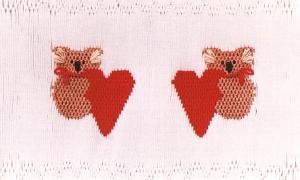 Little Memories Koala's n Hearts LM05 Smocking Plate