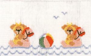 Little Memories Bear-kini-Fun LM31 Smocking Plate