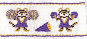 Cross-eyed Cricket CEC200 Tiger Spirit Smocking Pattern Plate with Colors