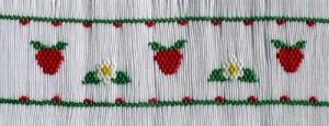 Cross-eyed Cricket  CES167 Summer Strawberries Smocking Plate