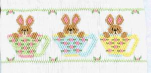 Cross-eyed Cricket  CEC116 Tea Time Hares Smocking Plate