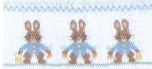 Cross-eyed Cricket  CEC112 Rabbits In Triplicate Smocking Plate
